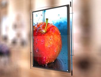 Световая реклама в виде виде тонкой световой панели