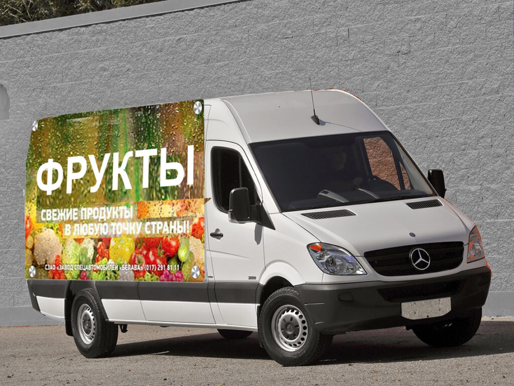 Реклама на микроавтобусе
